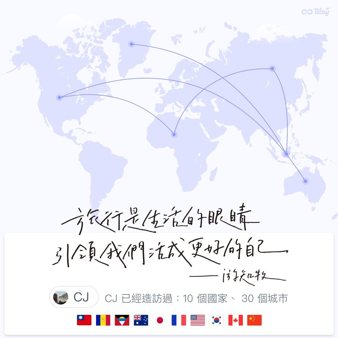 Blay 個人旅程地圖