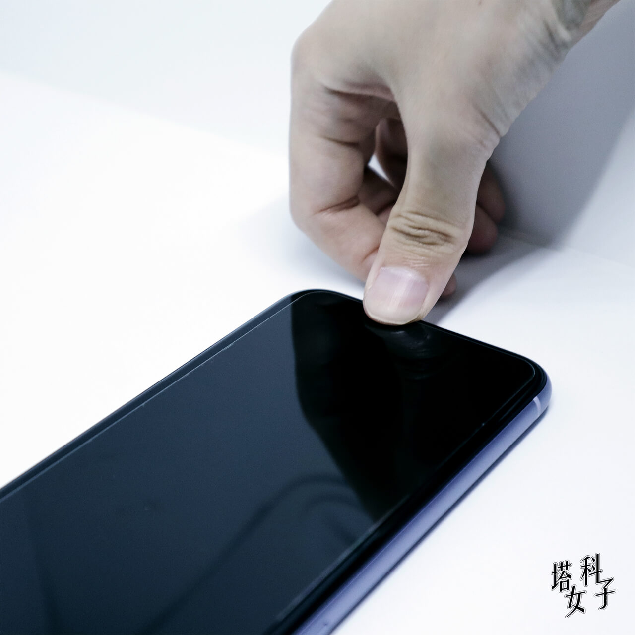 Just mobile Xkin™ 非滿版強化玻璃貼 按壓氣泡