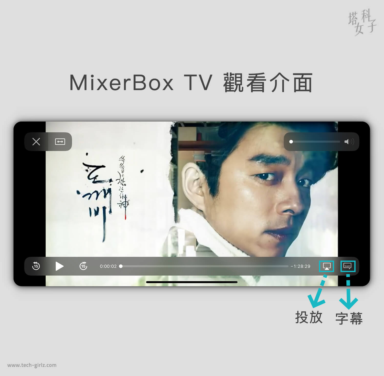 免費追劇 APP - MixerBoxTV 觀看介面