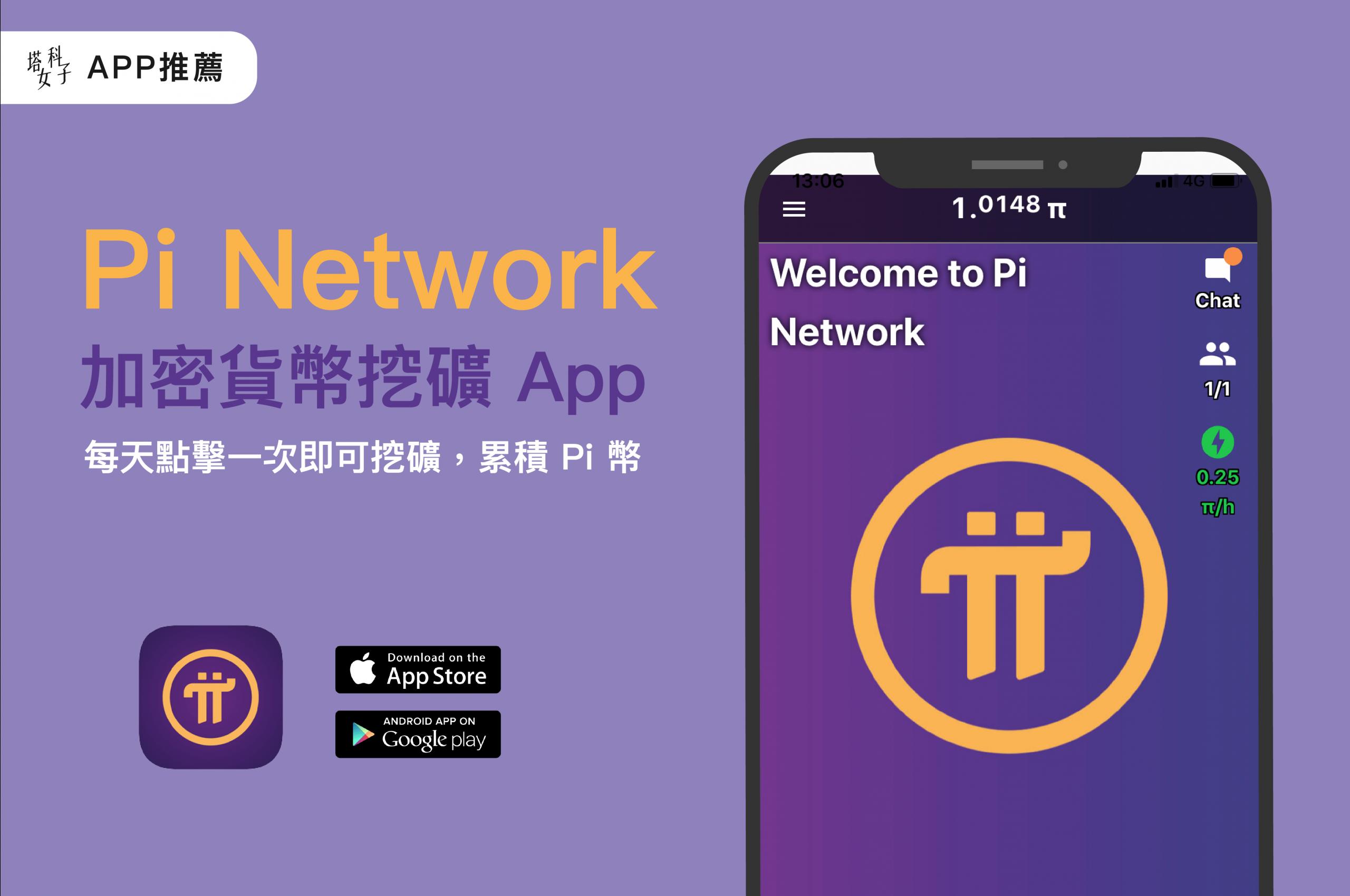 Pi Network 挖礦 APP,使用手機挖礦累積 Pi 幣