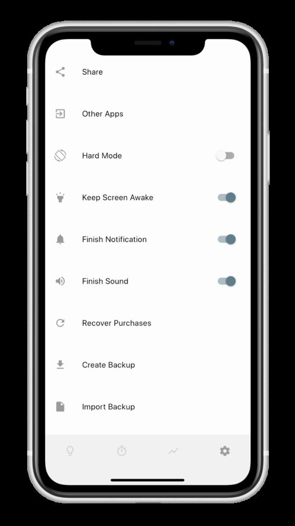 極簡美觀的讀書計時 App - Focusi,設定