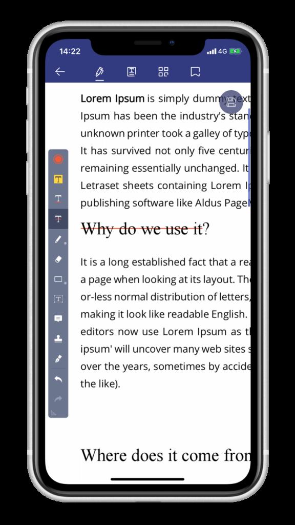PDF 編輯 App - PDFelement - 刪除線
