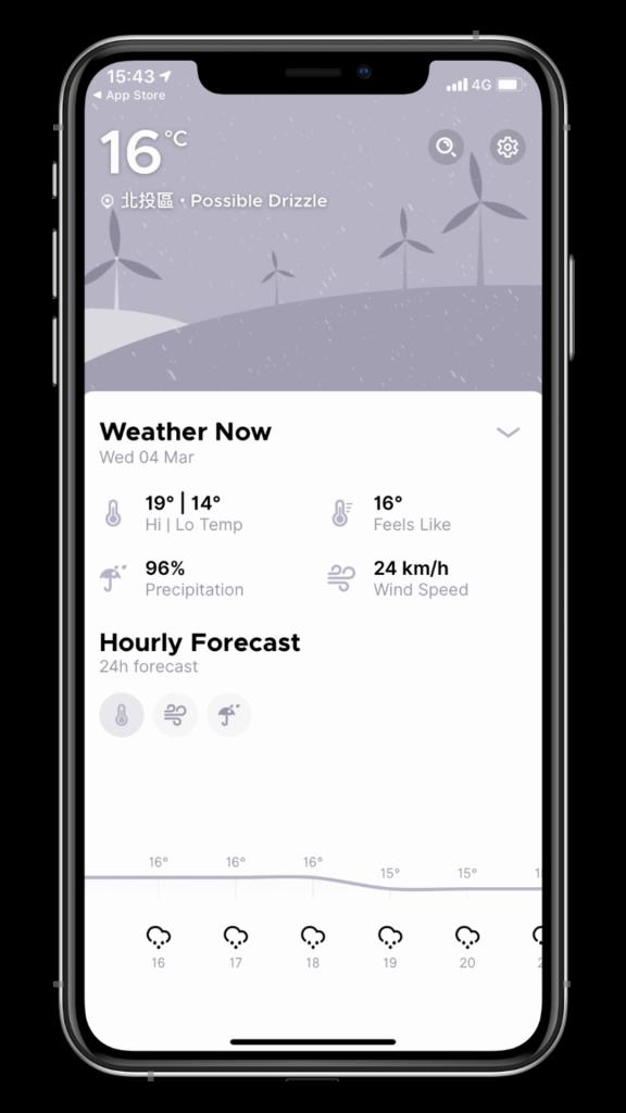 最美的天氣 App - Overdrop,介面極簡好看,支援 iOS/Android