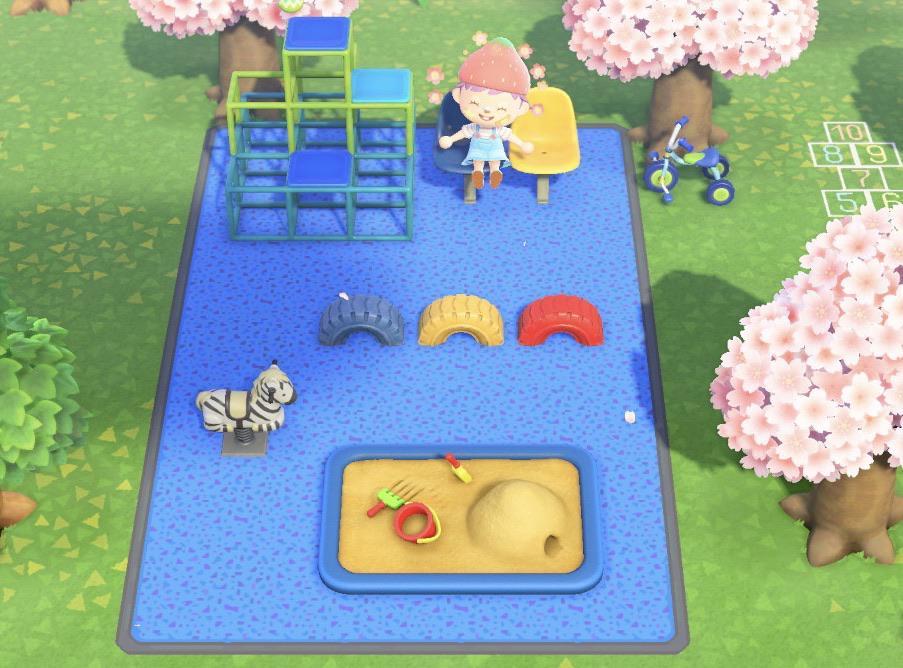 動森地板 QR Code 及作品 ID:遊樂場地板