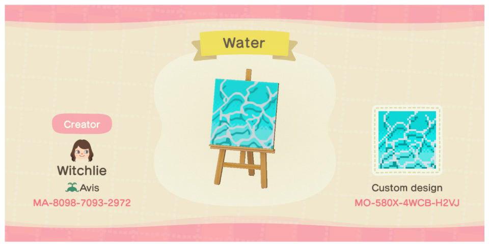 動森地板 QR Code 及作品 ID:水池地板