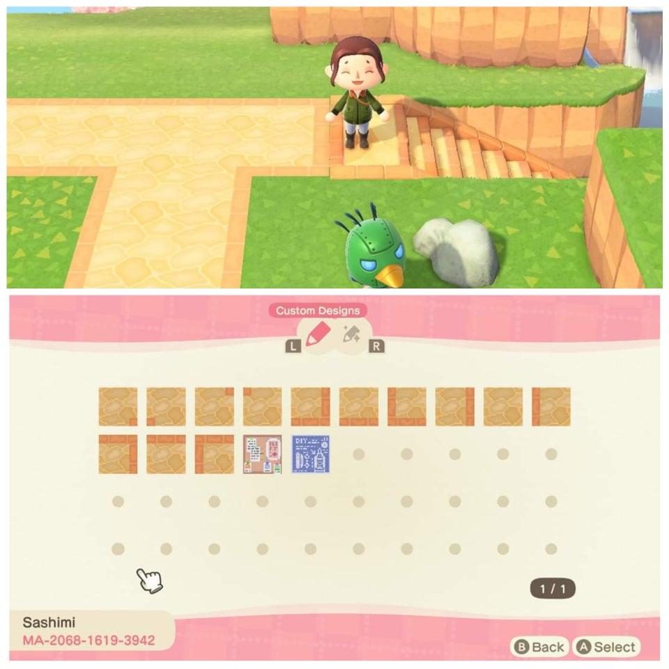 動森地板 QR Code 及作品 ID:戶外公園地板
