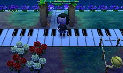 動物森友會|網友建造的超酷無人島 參考設計 - 鋼琴
