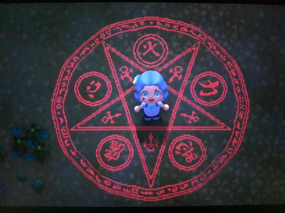 動森地板 QR Code 及作品 ID:魔法陣